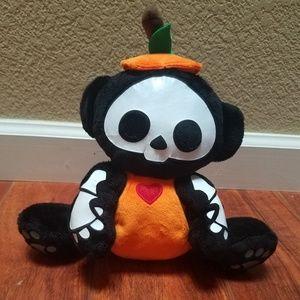Skelanimals Pumpkin Monkey Plush
